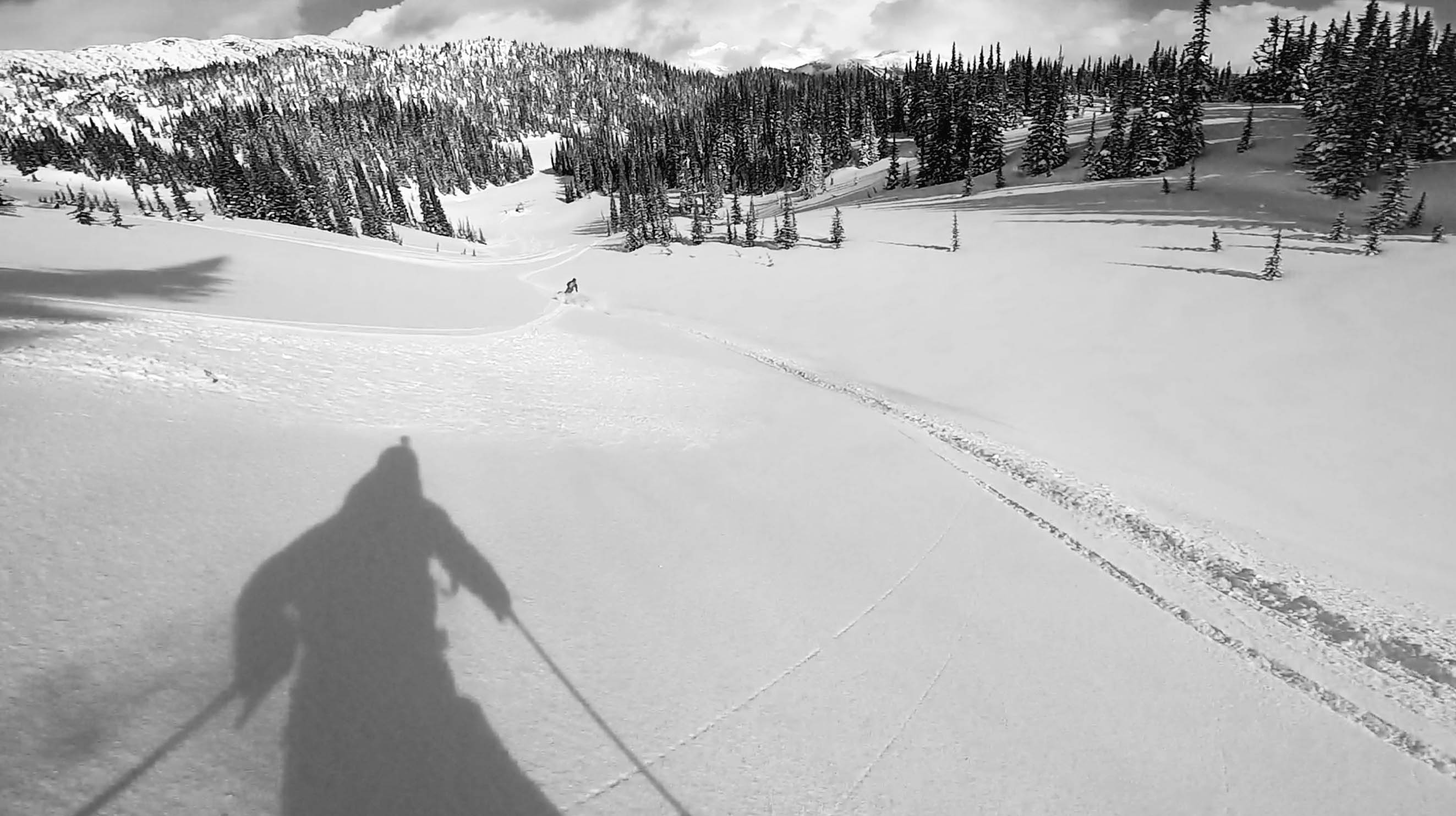 Pure Lines at Silver TIp Heli, Andy Culp's Shadow from the GoPro