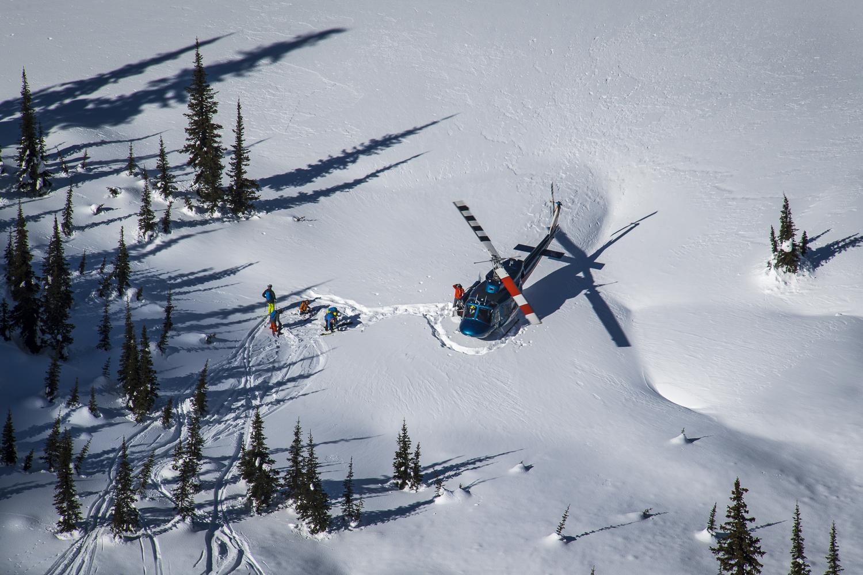 Silvertip heli skiing mountain shot