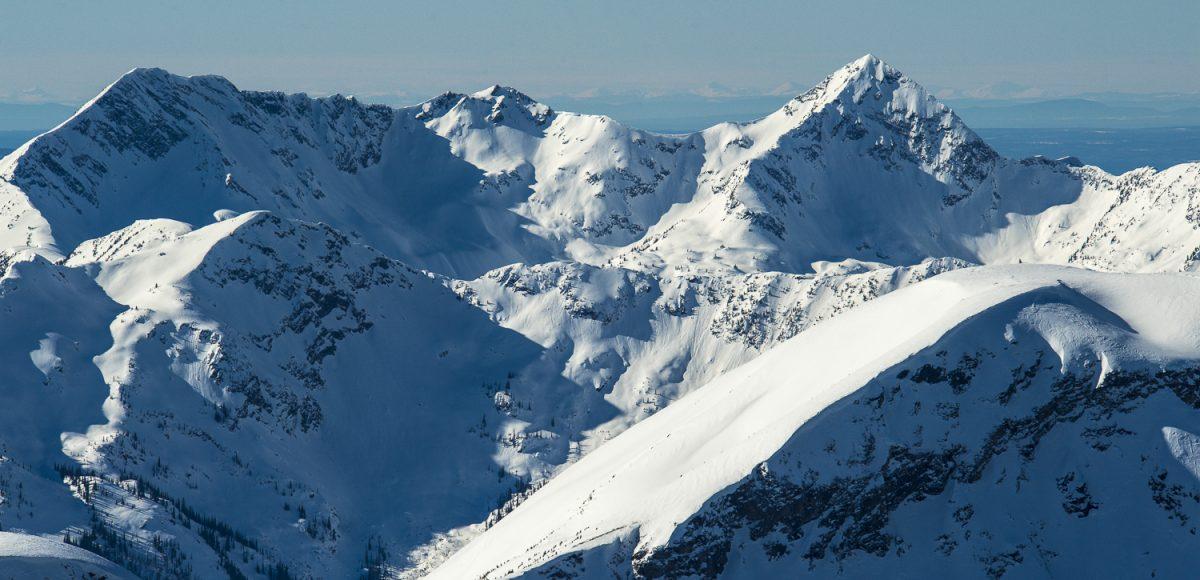 Silvertip heli skiing mountain