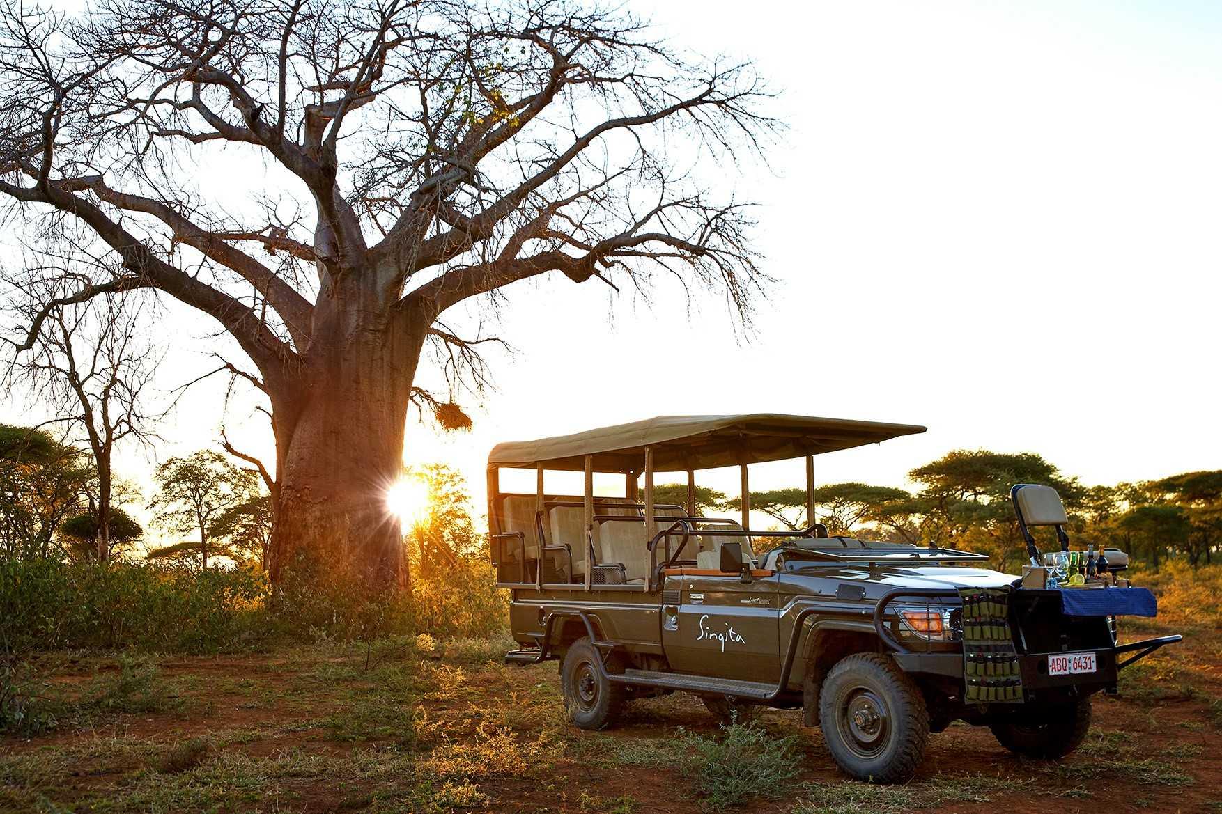 Singita safari car picture